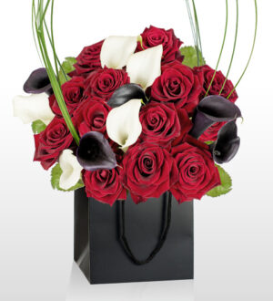 London Bouquet - National Gallery Flowers - National Gallery Bouquets - Red Roses - Anniversary Flowers - Luxury Flowers - Luxury Flower Delivery