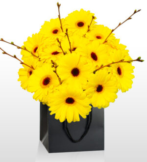Van Gogh Bouquet - National Gallery Flowers - National Gallery Bouquets - Yellow Bouquet - Birthday Flowers - Flower Delivery